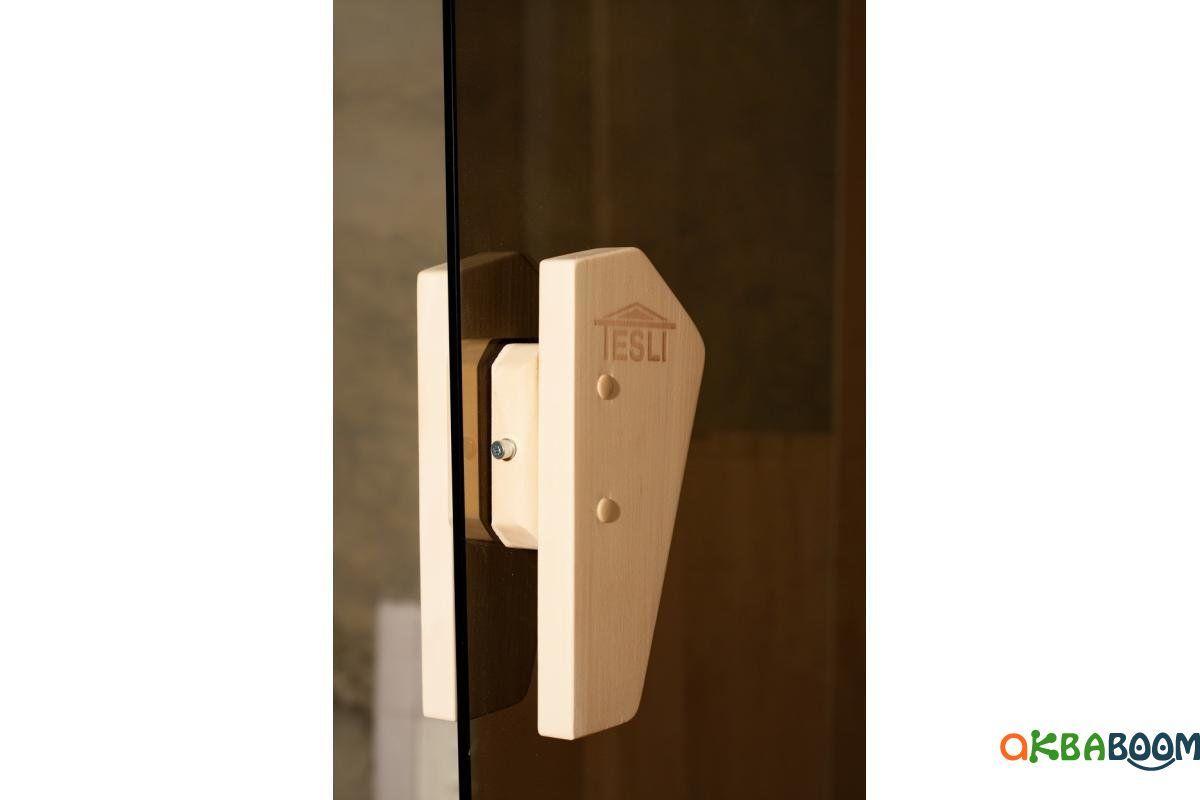 Двери для бани и сауны Tesli Tesli 2000 x 700, Дверь стеклянная, Украина, 70/200