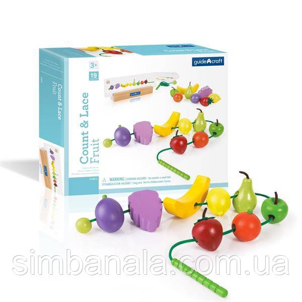 Шнуровка Guidecraft Manipulatives Фрукты (G6803)