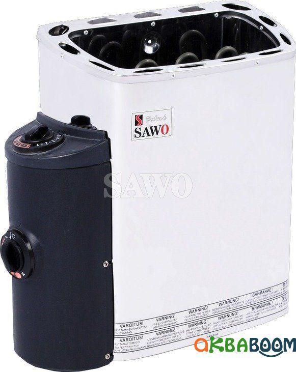 Электрокаменка Sawo Scandia SCA-60NB, Электрокаменки, Финляндия, 5-10 м3, 6 квт, 380, Настенная, Встроенный,