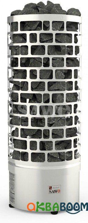 Электрокаменка Sawo Aries Tower Round ARI3-60NS, Электрокаменки, Финляндия, 5-10 м3, 6 квт, 220/380,