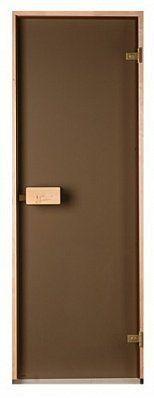 Стеклянная дверь для бани и сауны Saunax Classic прозрачная бронза 70/190, Дверь стеклянная, Эстония, 70/190