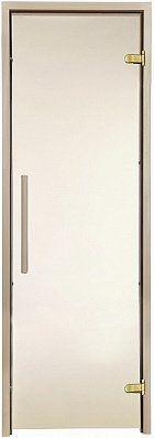 Стеклянная дверь для бани и сауны GREUS Premium 70/200 бронза, Дверь стеклянная, Украина, 70/200