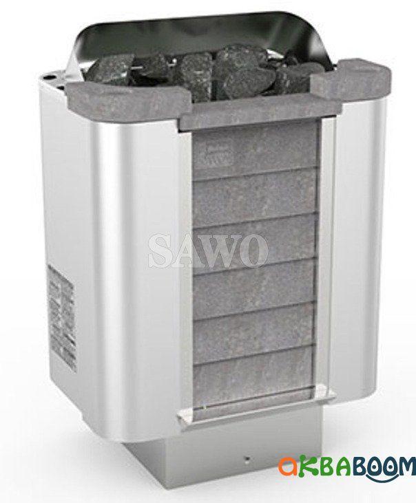 Электрокаменка Sawo Cumulus CML-80NS, Электрокаменки, Финляндия, 8-15 м3, 8 квт, 380, Напольная, Выносной, Нет