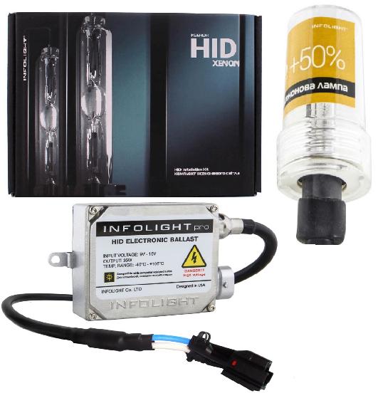 Комплект ксенонового світла Infolight PRO CanBus HB4 5000K +50% (P111034)