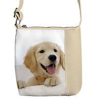 Яркая детская сумочка среднего размера с собачкой