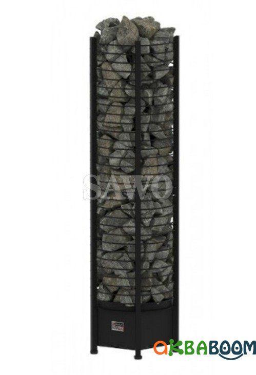 Электрокаменка Sawo Tower Round TH4-60NS Black, Электрокаменки, Финляндия, 5-10 м3, 6 квт, 220/380, Напольная,