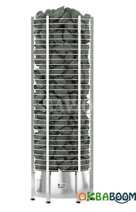 Электрокаменка Sawo Tower Round TH12-240N, Электрокаменки, Финляндия, 36-45 м3, 24 квт, 380, Напольная,
