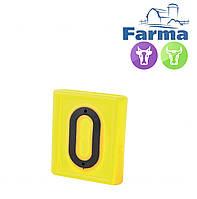 """Блок цифровой """"0"""" (48*59мм) к ошейнику для идентификации животных FARMA (Нидерланды)"""