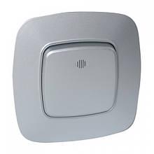 Выключатель 1-клавишный с подсветкой серебро ELA