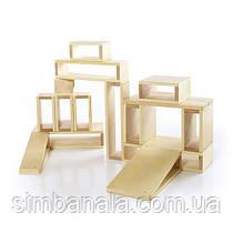 Набор больших полых блоков Guidecraft Block Play, 16 шт. (G97080)
