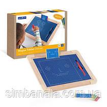 Магнітний планшет Guidecraft Manipulatives для малювання, з шаблонами і ручкою (G99971)