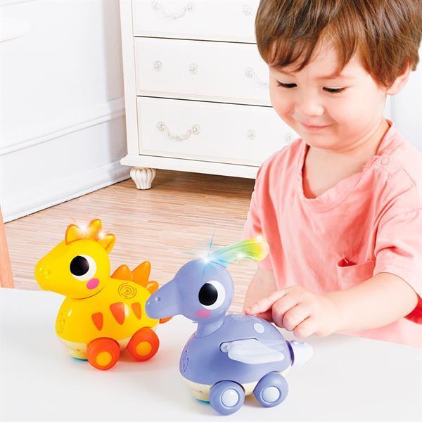 Каталка Hola Toys Стегозавр (6110D)