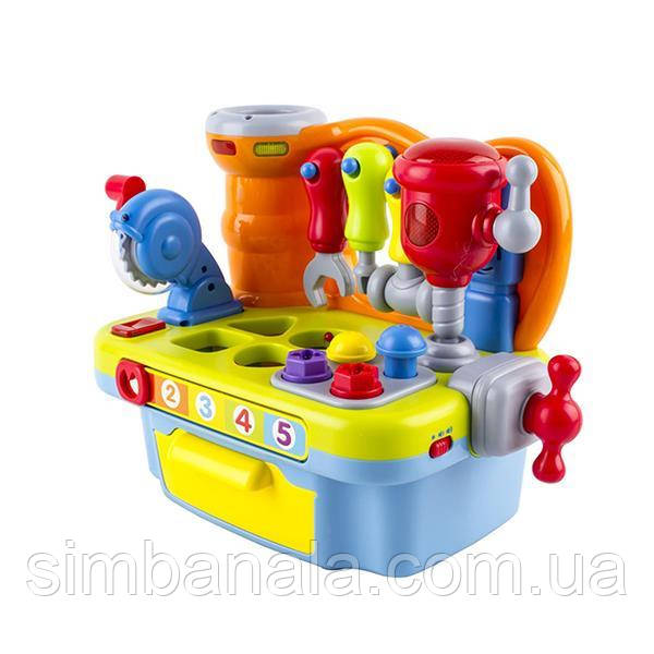 """Обучающая игрушка-сортер Hola Toys """"Столик с инструментами"""" (907)"""
