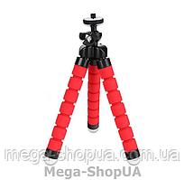 Гибкий мини штатив трипод тринога осьминог настольный для телефона смартфона камеры JU98W Красный