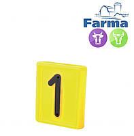 """Блок цифровой """"1"""" (48*59мм) к ошейнику для идентификации животных FARMA (Нидерланды)"""