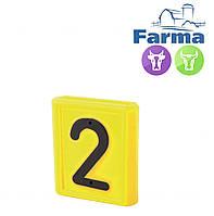 """Блок цифровой """"2"""" (48*59мм) к ошейнику для идентификации животных FARMA (Нидерланды)"""