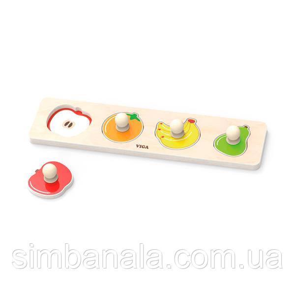 Деревянная рамка-вкладыш Viga Toys Фрукты (44531)