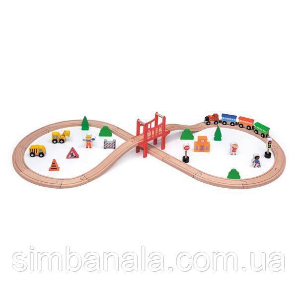 Деревянная железная дорога Viga Toys 39 эл. (50266)