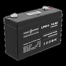 Аккумулятор AGM LPM 6V - 14 Ah