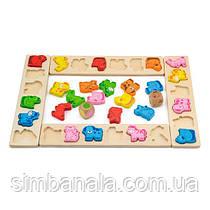 Дерев'яна гра-сортер Viga Toys Карнавал тварин (50450)
