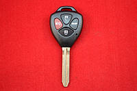 Ключ Toyota Camry корпус 4 кнопки Лезвие Toy43 NEW