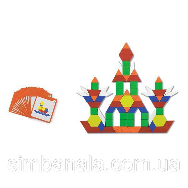 Геометрическая мозаика Viga Toys на магнитах с карточками, 102 эл. (50669)