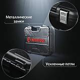 """Набор инструментов 1/4"""", 46ед., Cr-V INTERTOOL ET-8046, фото 3"""