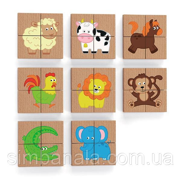 Магнитные пазлы Viga Toys Зверушки, 32 эл. (50722)
