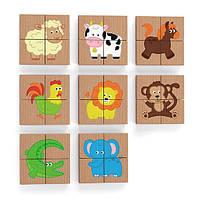 Магнитные пазлы Viga Toys Зверушки, 32 эл. (50722), фото 1