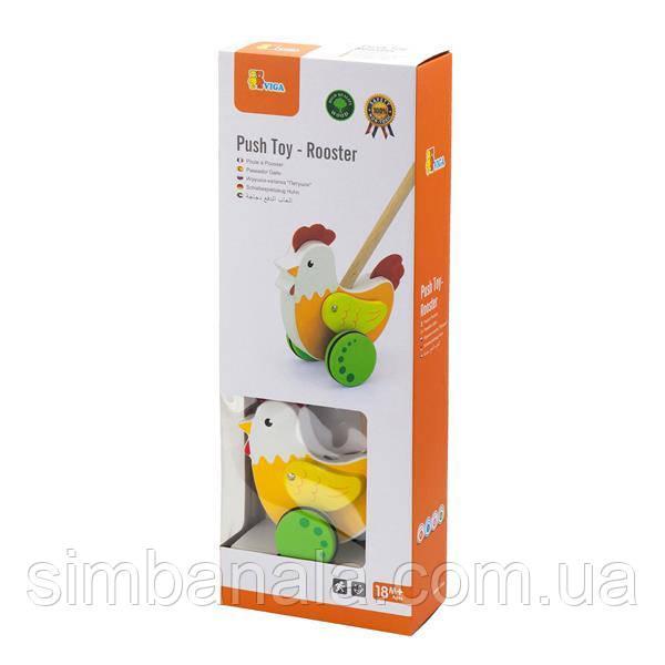 Деревянная каталка Viga Toys Петушок (50964)