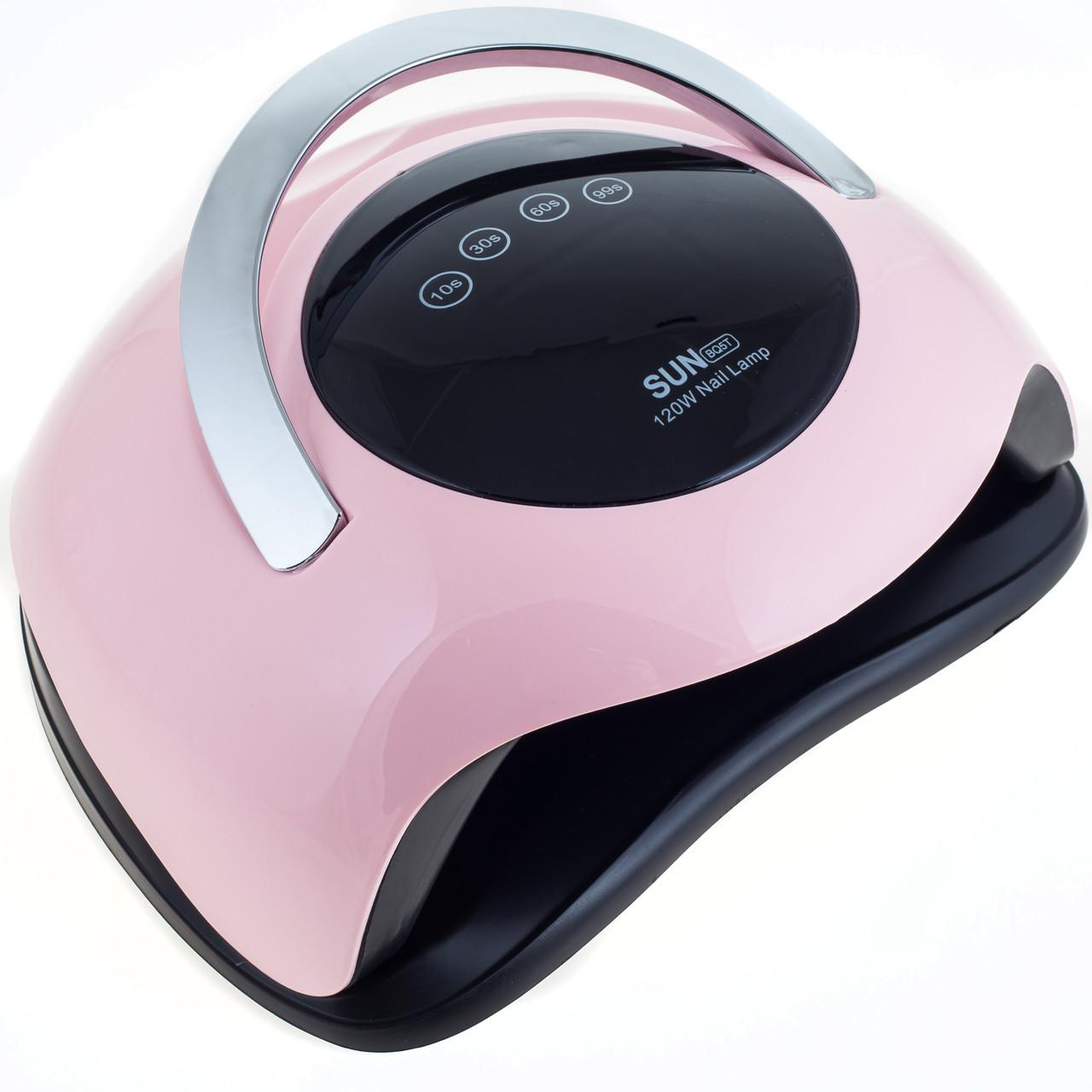Лампа для манікюру Sun BQ5T 120 Вт LED/UV, рожева