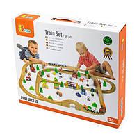 Деревянная железная дорога Viga Toys 90 эл. (50998), фото 1
