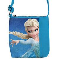 Яркая детская сумочка среднего размера с Эльзой