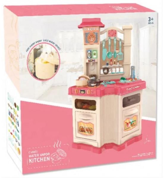 Детская игровая кухня Fun Cooking 848A/B Pink, с иммитацией пара и водой