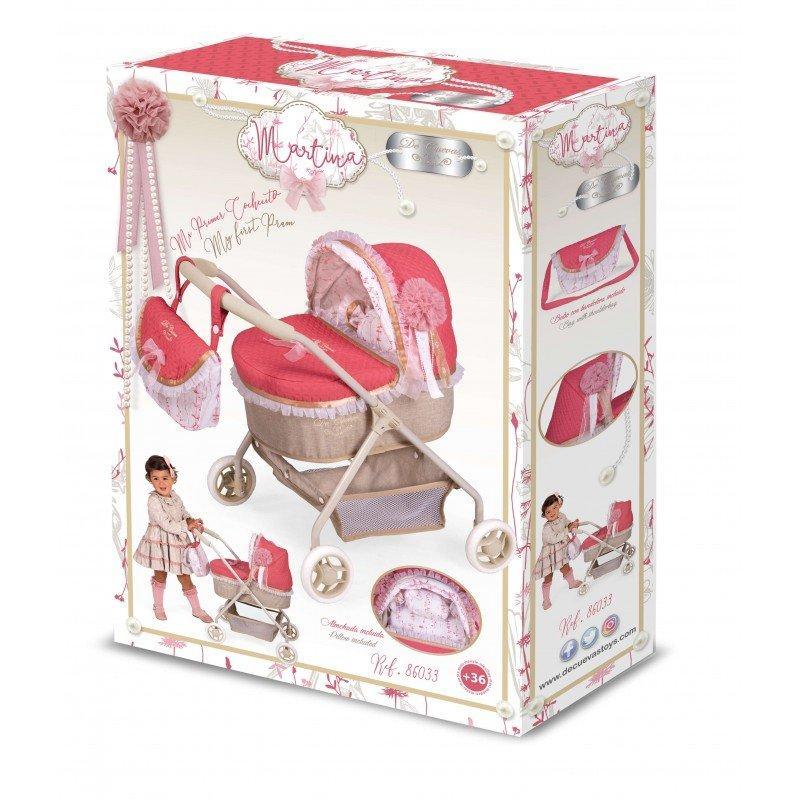 Коляска для кукол De Cuevas Martina 86033, с сумочкой