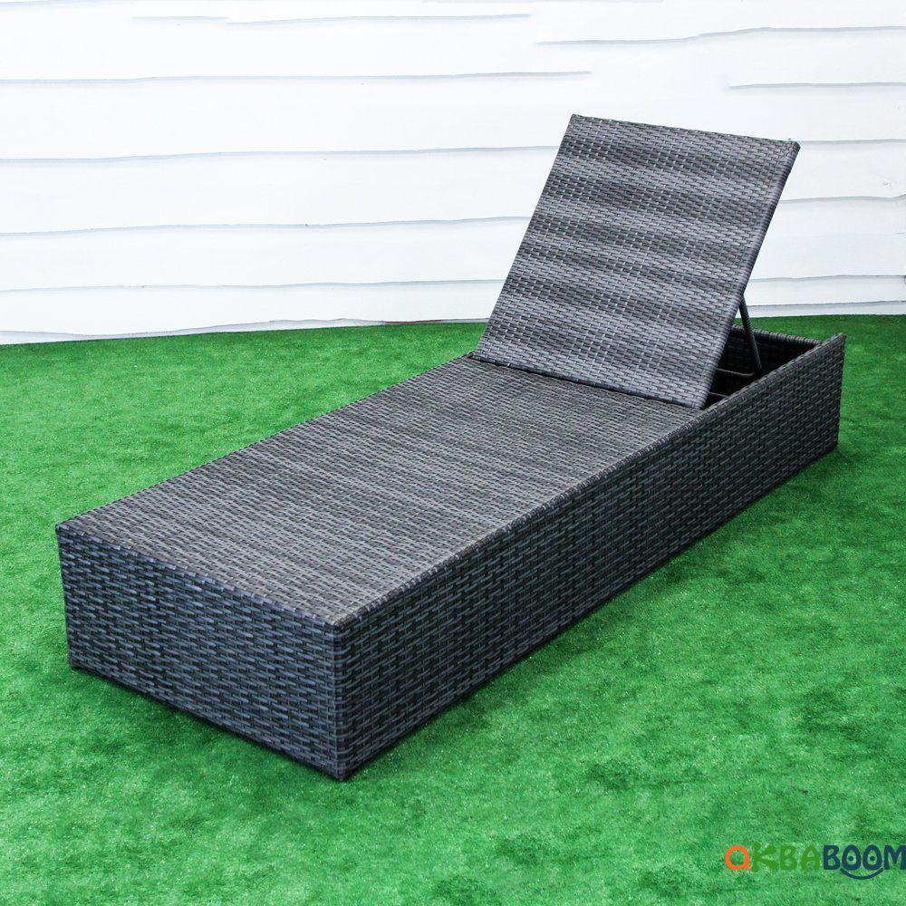 """Шезлонг """"Карибы"""", Шн-002, Садовая мебель из искусственного ротанга"""