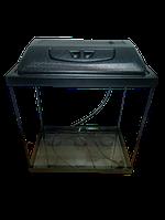 Аквариум прямоугольный 35 л с крышкой,светильником и поддоном 3 в 1, 40*25*35 см 4 мм