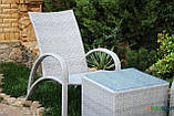 Кресло Пляж, Кс-001, Садовая мебель из искусственного ротанга, фото 3