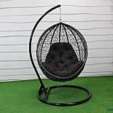 """Подвесное кресло кокон """"Наоми"""" (Арт.-106), Садовая мебель из искусственного ротанга, фото 6"""