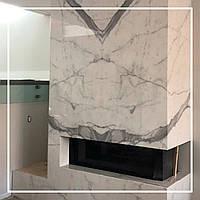 Каминный портал в современном стиле углового типа.: цена, заказать., фото 1