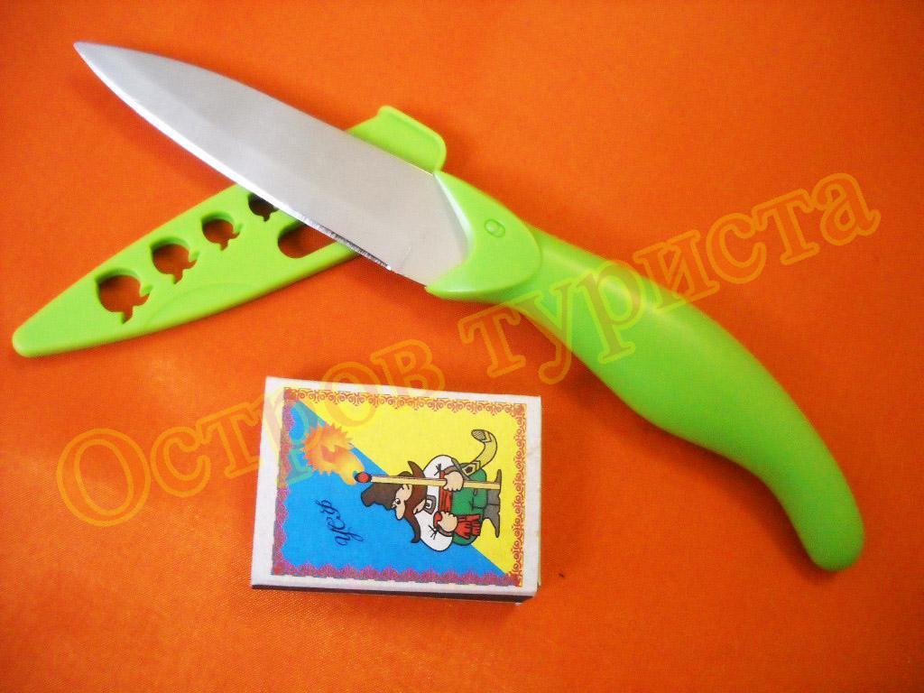 Нож грибника с ножнами зеленый