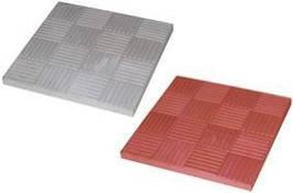 """Тротуарная плитка Квадрат """"25 x 25"""" (черный, красный, желтый, коричневый) вибролитая"""