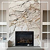 Мраморный камин в современной гостиной квартиры: цена, фото.