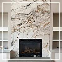 Мраморный камин в современной гостиной квартиры: цена, фото., фото 1
