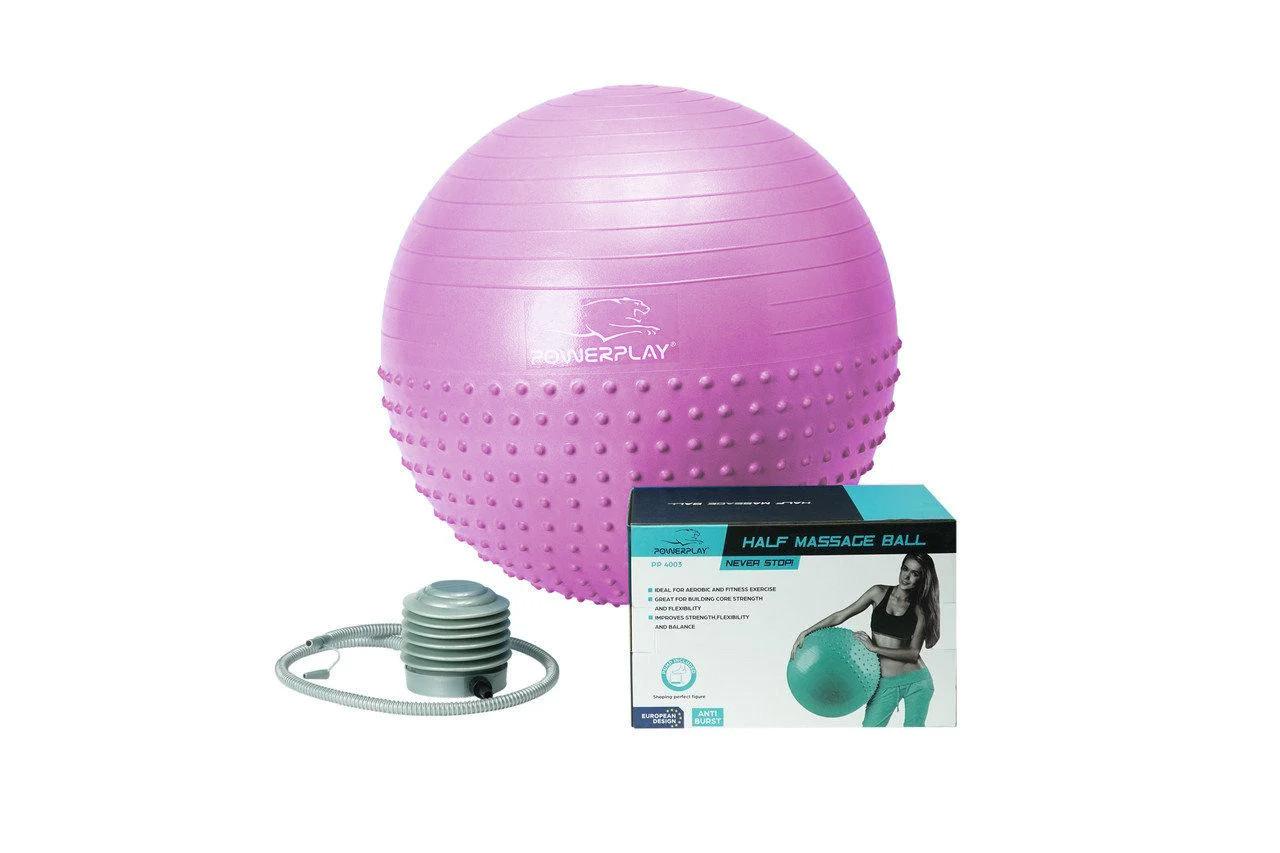 М'яч для фитнесу PowerPlay 4003 75см Бузковий