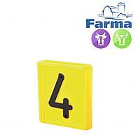"""Блок цифровой """"4"""" (48*59мм) к ошейнику для идентификации животных FARMA (Нидерланды)"""