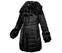 Пуховик пальто женское зимнее на натуральном пуху с натуральным мехом с капюшоном MIRAGE Мираж