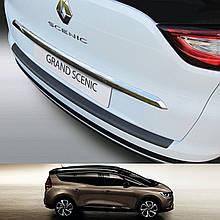 Пластиковая защитная накладка на задний бампер для Renault Grand Scenic IV 2016+