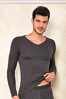 Термо кофта мужская зимняя с длинным рукавом Berrak 758 Термобелье Турция