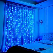 Гирлянда Водопад 2х2м на Окно Штору 240 LED Лампочек - Новогодняя Светодиодная Динамическое Свечение